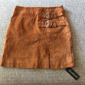 BLANK NYC Denim Hazelnut Brown Suede Mini Skirt 24